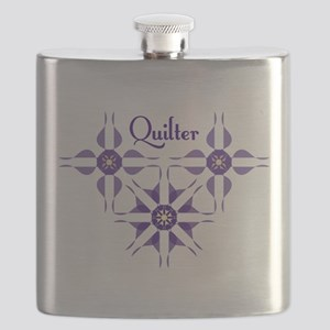Quilted Violet Flask