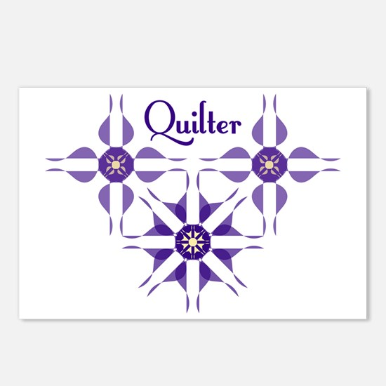 Quilted Violet Postcards (Package of 8)