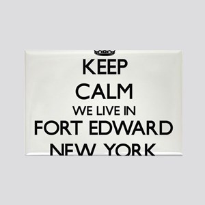 Keep calm we live in Fort Edward New York Magnets