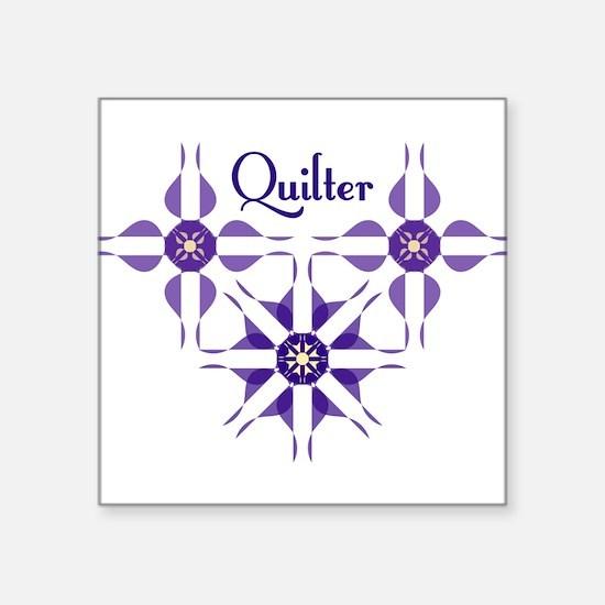Quilted Violet Sticker