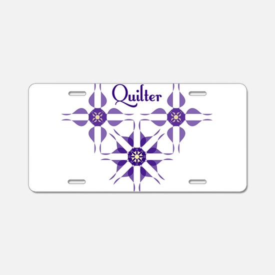 Quilted Violet Aluminum License Plate