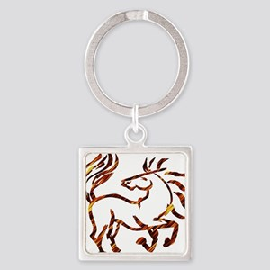 Fire Dance Square Keychain
