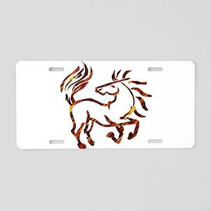 Fire Dance Aluminum License Plate