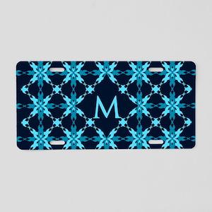 Midnight Snow Aluminum License Plate
