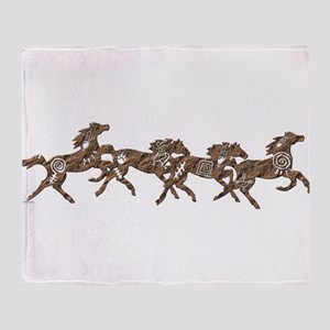 Stone Ponies Throw Blanket