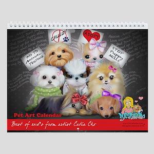 Pet Art Best Of 2014 Wall Calendar
