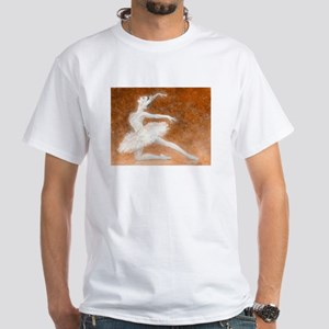 Swan Lake (sepia) Ballet White T-Shirt