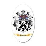 Jaquenot 20x12 Oval Wall Decal