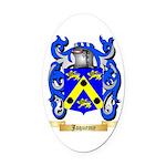 Jaquemy Oval Car Magnet