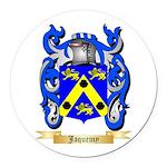 Jaquemy Round Car Magnet