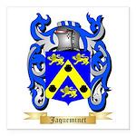 Jaqueminet Square Car Magnet 3