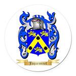Jaqueminet Round Car Magnet