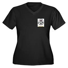 Jaquel Women's Plus Size V-Neck Dark T-Shirt