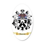 Jaqueau Oval Car Magnet