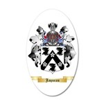 Jaqueau 35x21 Oval Wall Decal