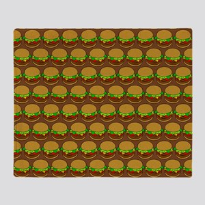 Fun Yummy Hamburger Pattern Throw Blanket