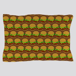 Fun Yummy Hamburger Pattern Pillow Case
