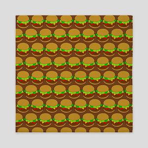 Fun Yummy Hamburger Pattern Queen Duvet