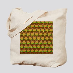 Fun Yummy Hamburger Pattern Tote Bag