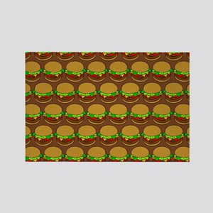 Fun Yummy Hamburger Pattern Rectangle Magnet