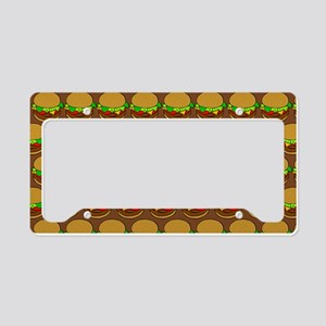 Fun Yummy Hamburger Pattern License Plate Holder