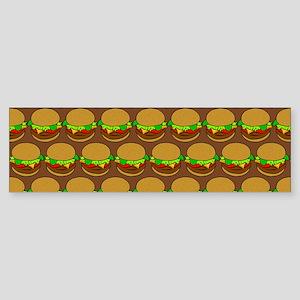 Fun Yummy Hamburger Pattern Sticker (Bumper)