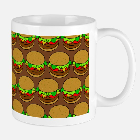 Fun Yummy Hamburger Pattern Mug