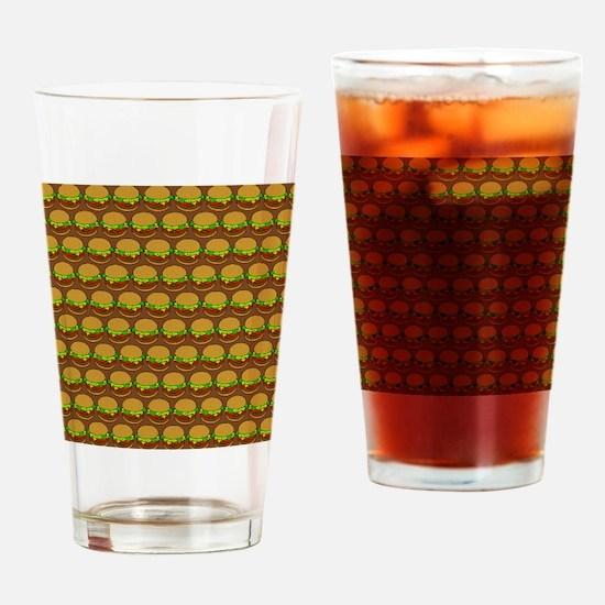 Fun Yummy Hamburger Pattern Drinking Glass