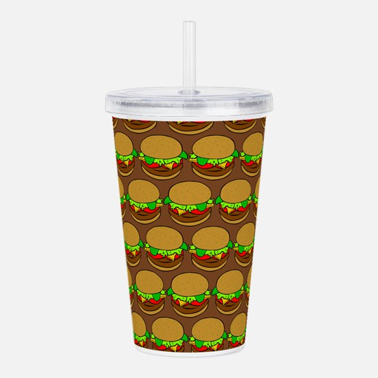 Fun Yummy Hamburger Pa Acrylic Double-wall Tumbler