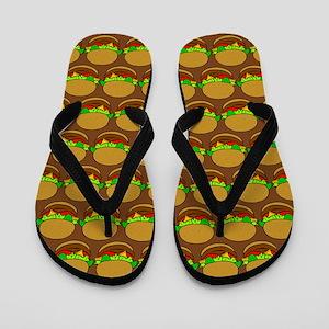 Fun Yummy Hamburger Pattern Flip Flops