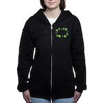 Accountant Shamrock Oval Women's Zip Hoodie