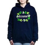 Accountant Shamrock Oval Women's Hooded Sweatshirt