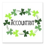 Accountant Shamrock Oval Square Car Magnet 3
