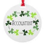 Accountant Shamrock Oval Round Ornament