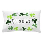 Accountant Shamrock Oval Pillow Case