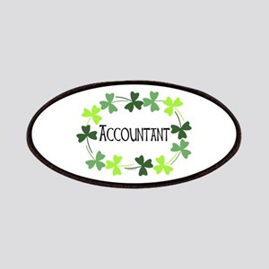 Accountant Shamrock Oval Patches