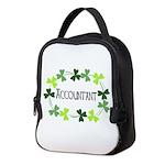 Accountant Shamrock Oval Neoprene Lunch Bag