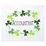 Accountant Shamrock Oval King Duvet