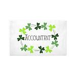 Accountant Shamrock Oval Area Rug