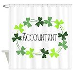 Accountant Shamrock Oval Shower Curtain