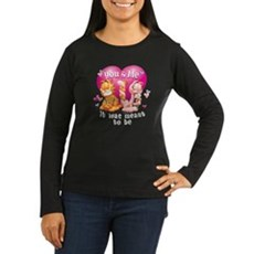 You and Me Women's Long Sleeve Dark T-Shirt