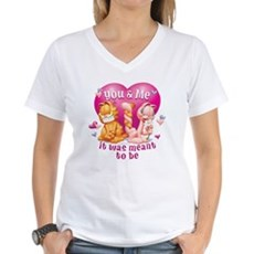 You and Me Women's V-Neck T-Shirt