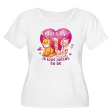You and Me Women's Plus Size Scoop Neck T-Shirt