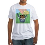 Seeing-Eye Hamster Fitted T-Shirt