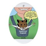 Seeing-Eye Hamster Ornament (Oval)
