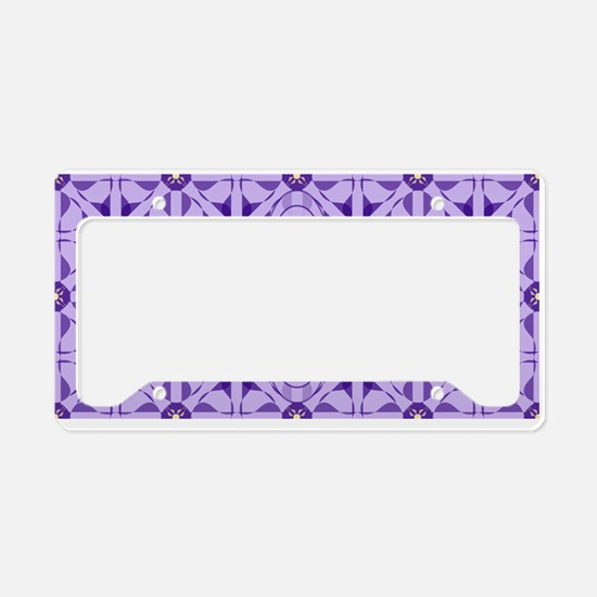 Quilted Violet License Plate Holder