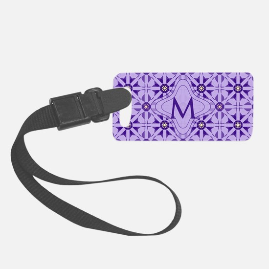 Quilted Violet Small Luggage Tag