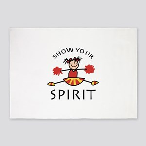 SHOW YOUR SPIRIT 5'x7'Area Rug