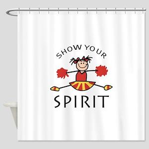 SHOW YOUR SPIRIT Shower Curtain