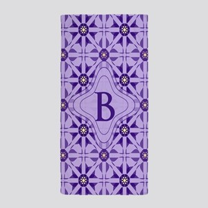 Quilted Violet Beach Towel